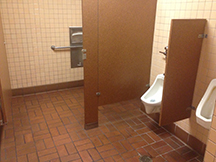 The now-famous Sizzler restroom inside of which the data drizzle was discovered
